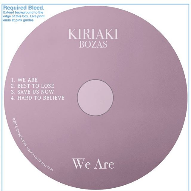 so excited to release this EP in October!! #weare #kiriakibozasmusic #newmusic