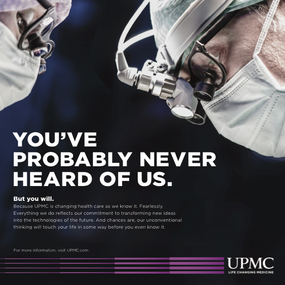We used bold messaging to announce UPMC's thought leadership at events around the country.