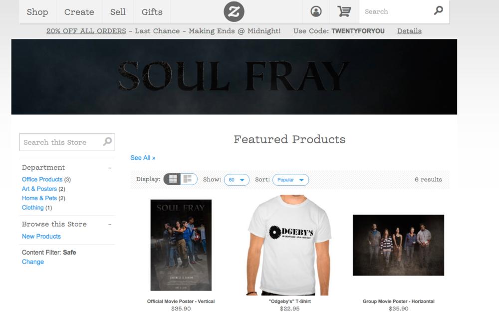 Zazzle Soul Fray Storefront