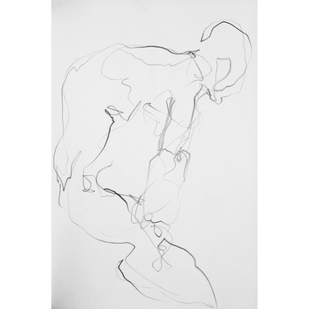 life drawing 2min, by Tanleea