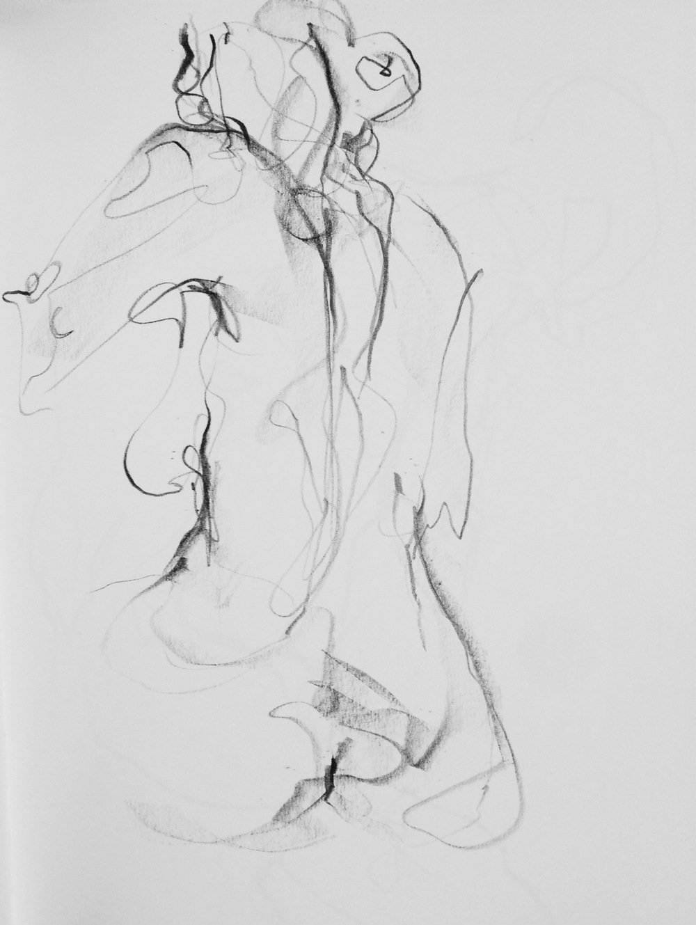 Life drawing 5min, by Tanleea