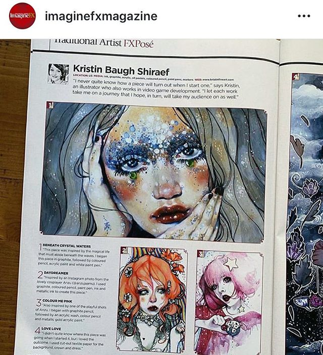 Super honored to be featured in this months March issue of the @imaginefxmagazine in the FXPose gallery section 💕⭐️🙏! Just in time for my birthday 🎈. Grab it before it's gone and see some amazing artists work and read their inside stories!