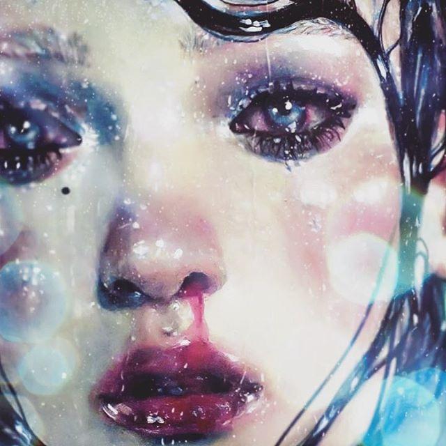 "💧These April showers got me like💧🌧🌧🌧💧💧💧 ""Stardust""🌟 #art #movement"