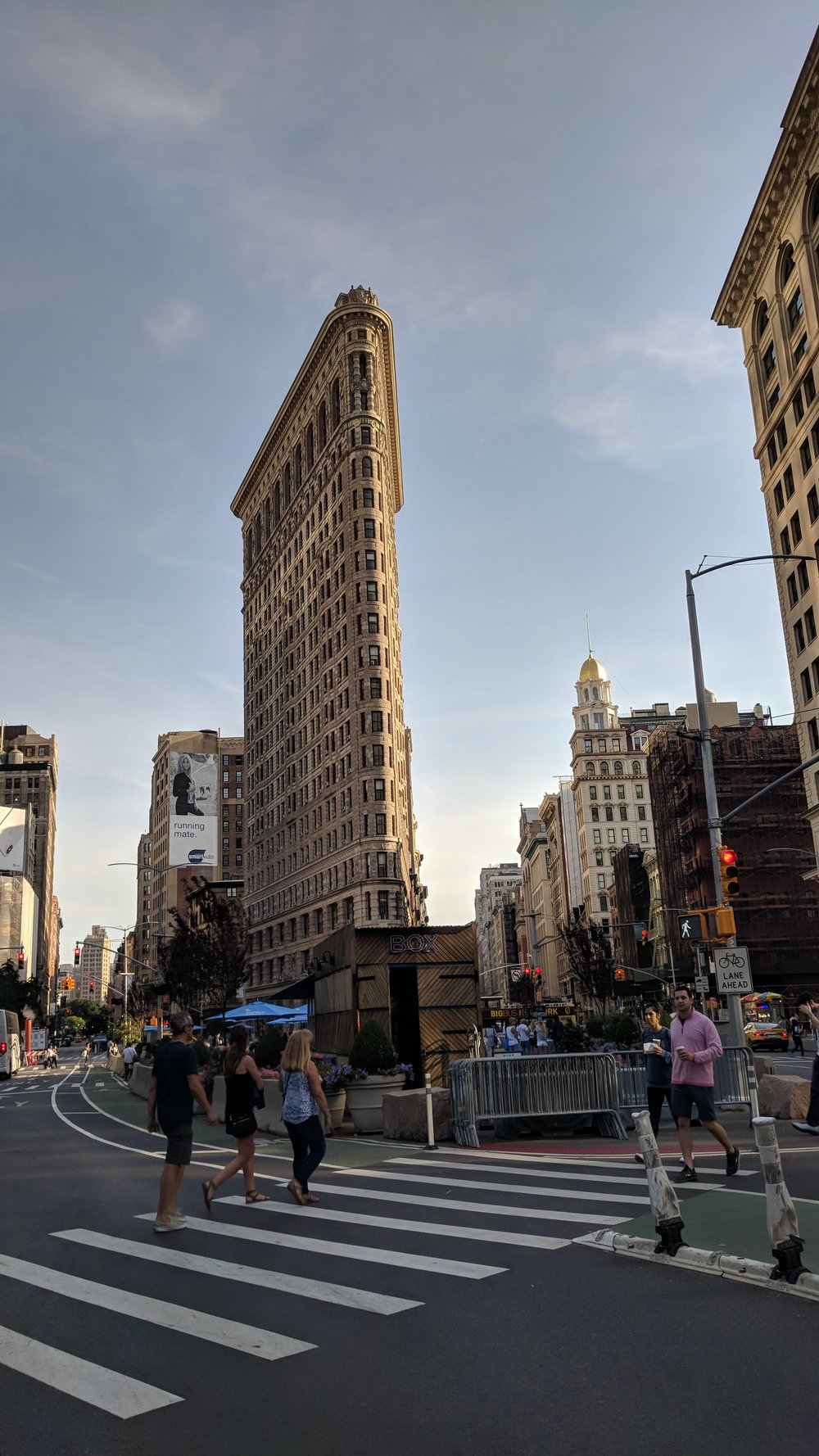 (This is the Flatiron Building)