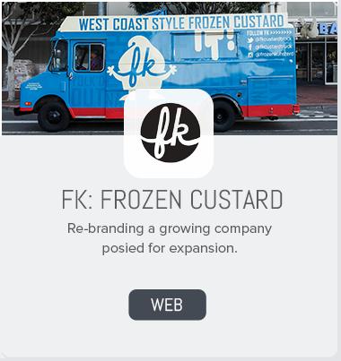 FK Frozen Custard Branding