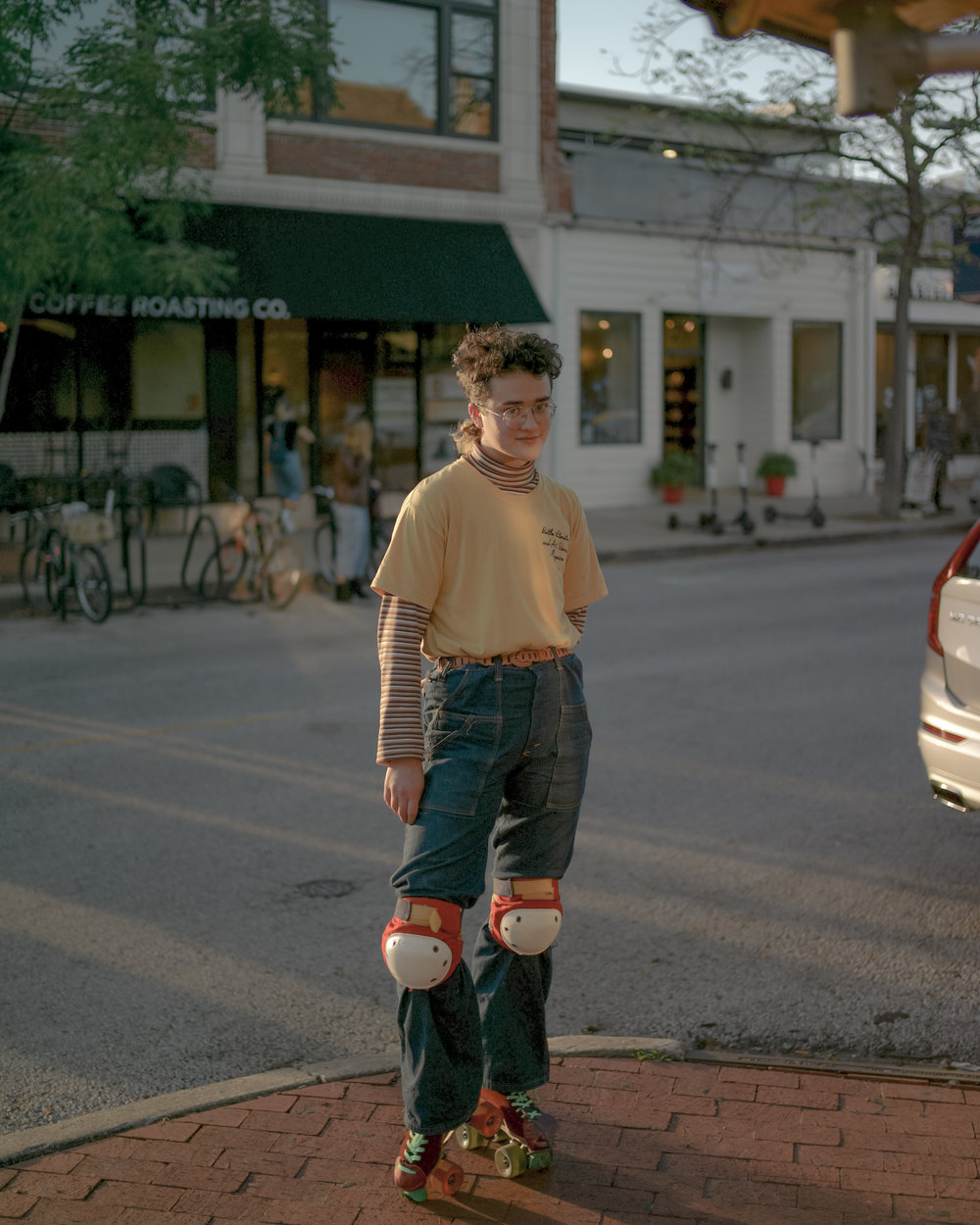 Noah Doolady frequently enjoys skating on the streets of downtown Columbia, Missouri. According to Doolady, these skates in particular are ready for repair or replacement.