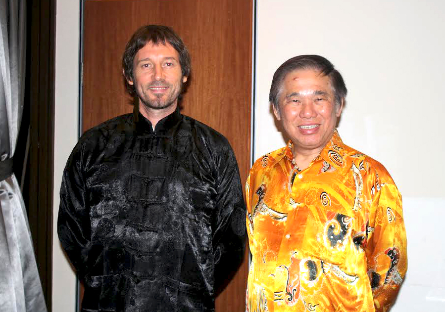 Sifu Seán Grame with his Sifu, Grand Master Wong Kiew Kit at the Taijiquan Intensive Course, Kuala Lumpur Malaysia 2015.