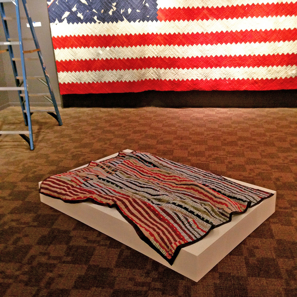 Stripes  quilt with Luke Haynes'  [American Context #5] Flag