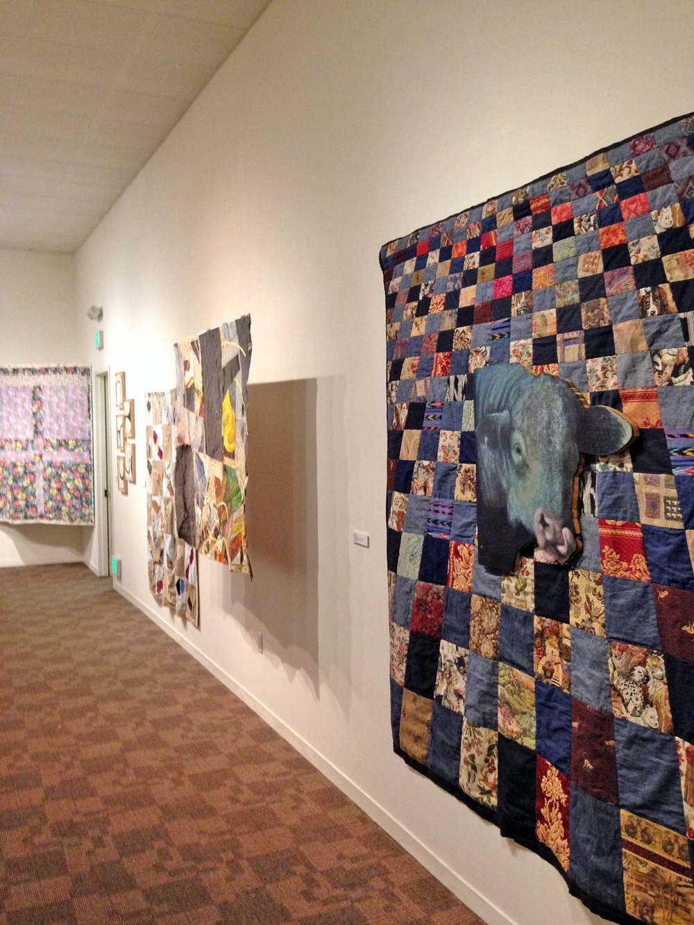 Installation view of Clay Lohmann's  Blue Moo  and other pieces