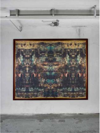 Bovis 300'000, Bovis 500'000   Lackfarbe, UV-Druck auf Leinwand   200x150cm und 200x160cm   2011