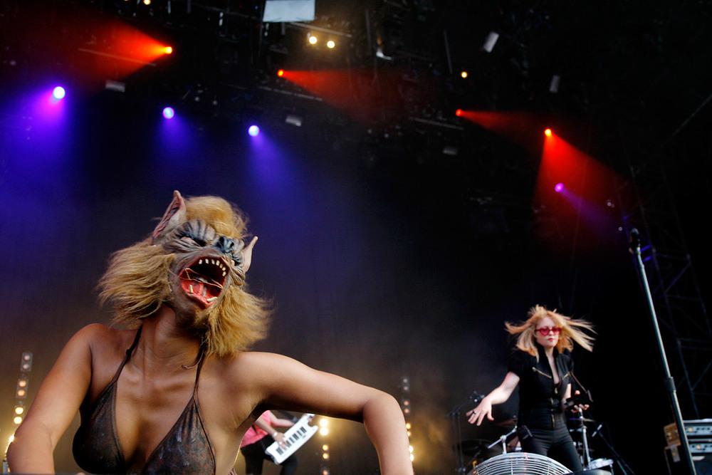 Alison Goldfrapp en concert au Paléo Festival, Nyon, Suisse, le 19 juillet 2006.