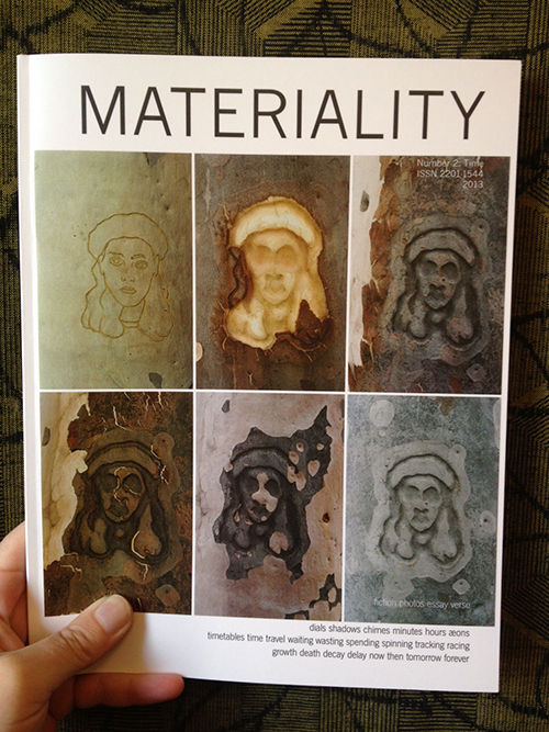 Apropos of nothing, did you know that back issues of CRANK's sister publication  Materiality  are  now available for just $10 each ? (The current issue,  SURFACE , is only a little more at $15). Of interest to all genders!