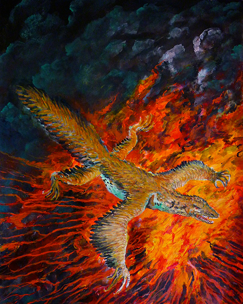 Archaeoraptor , by Rod Gray, 2015.