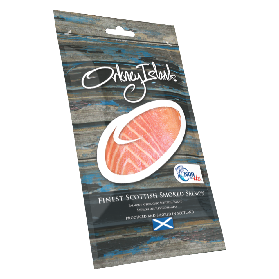 Orkney Islands Salmon Packaging Design AD Profile