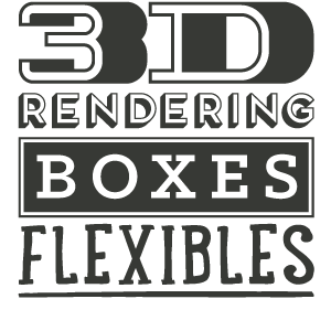 AD Profile 3D Rendering for boxes and flexibles