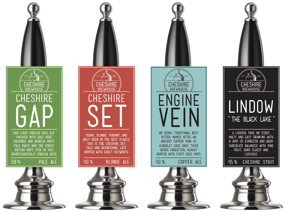 Cheshire Brewhouse Pump Clip Design by AD Profile