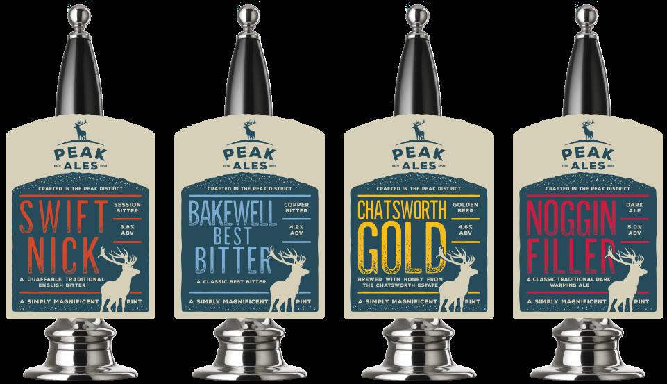 Peak Ales pump clip design by Cheshire based AD Profile