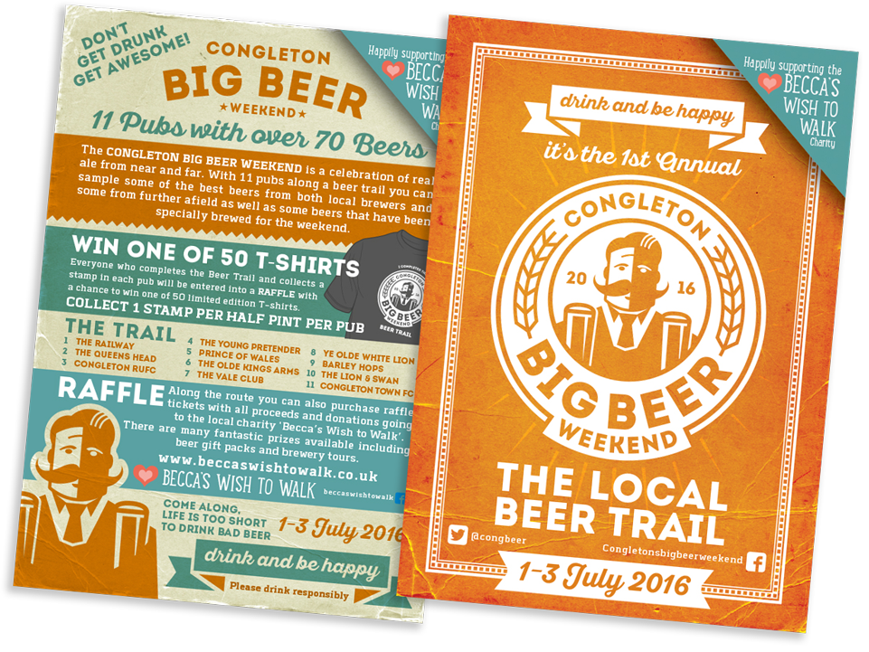 Congleton Big Beer Weekend Flyer Design by AD Profile