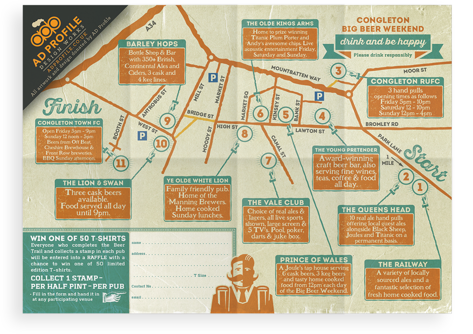 Congleton Big Beer Weekend Map Design by AD Profile