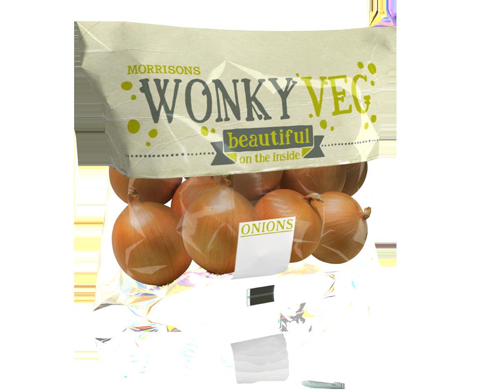 Morrisons Wonky Veg - Onions 3D Render