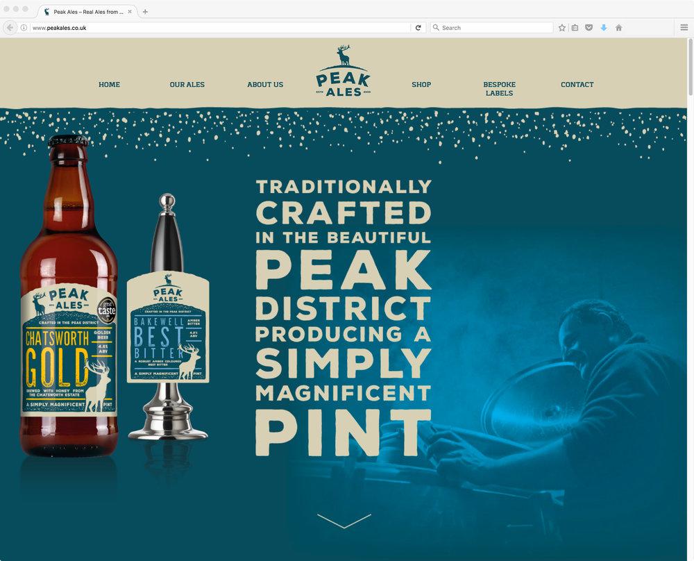 Peak Ales Website Design by AD Profile
