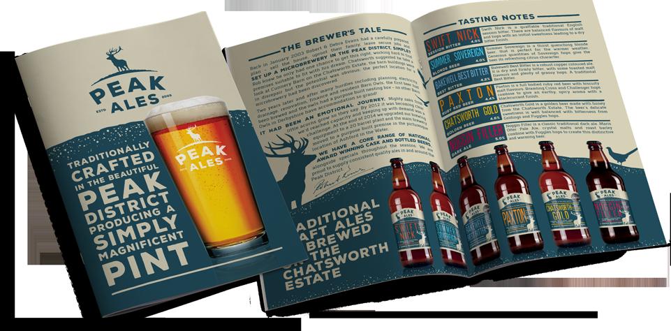 Peak Ales Brochure Design by AD Profile