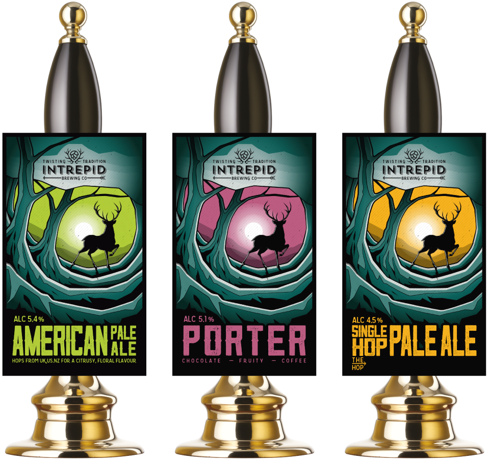 Intrepid Brewing Co Pump Clip Graphic Design by AD Profile