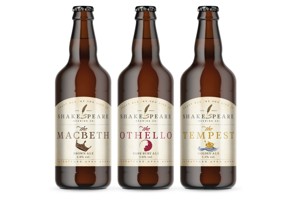 Shakespeare Brewing Co Label designs by AD Profile