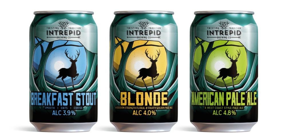 Intrepid Brewing co can designs by AD Profile