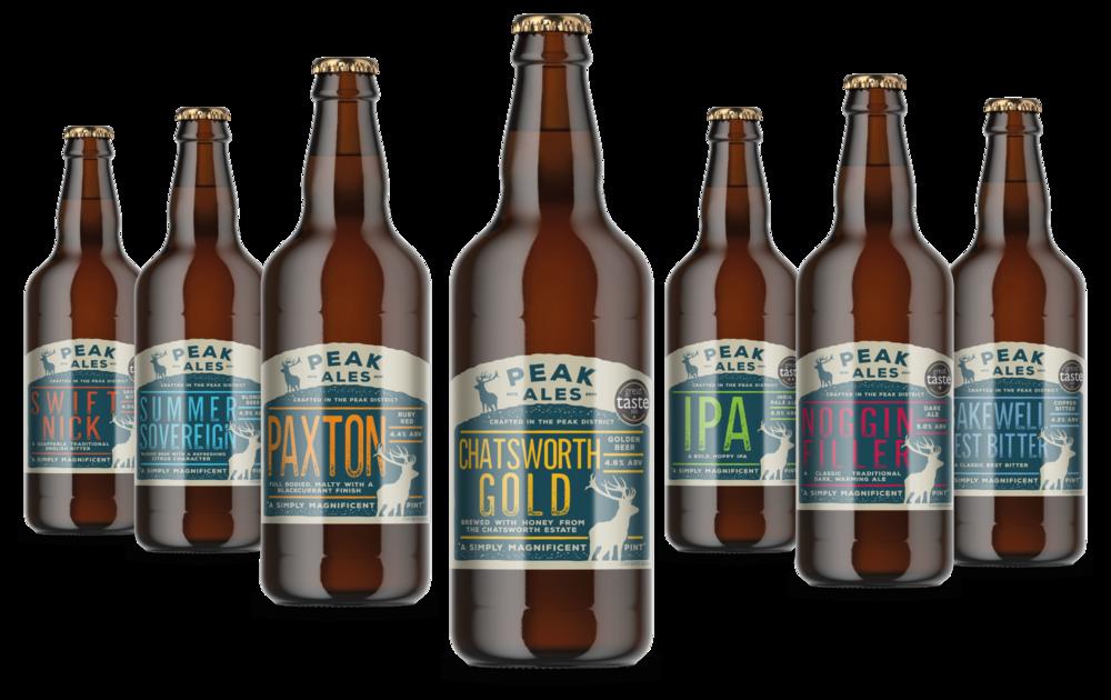 Peak Ales bottle label designs by AD Profile