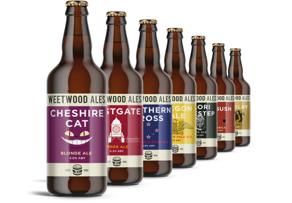 Weetwood Ales Bottle Label designs by AD Profile
