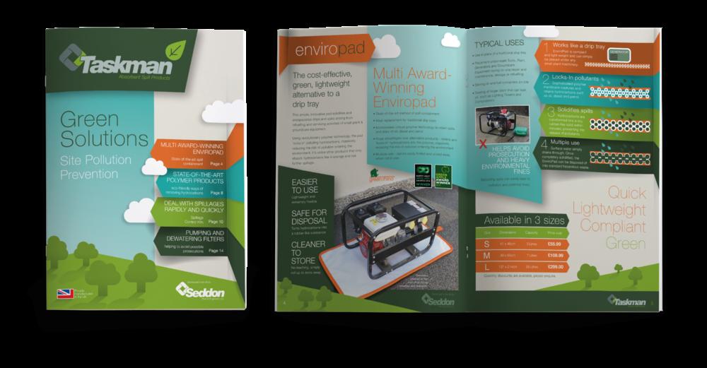 Seddon Taskman Brochures Spill kits design by AD Profile
