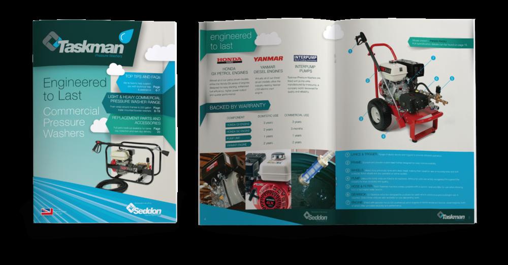 Seddon Taskman Brochures Pressure Washers design by AD Profile