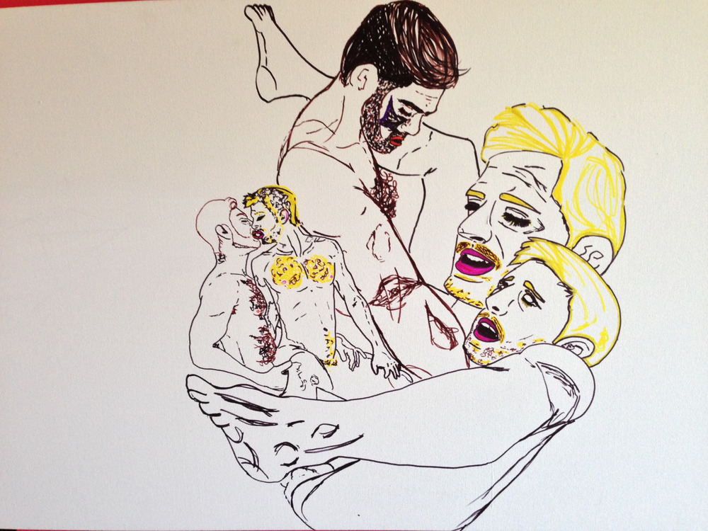 I just wanna…  Detroit MI, 2014  50″ x 40″ Canvas    Materials: Sharpie