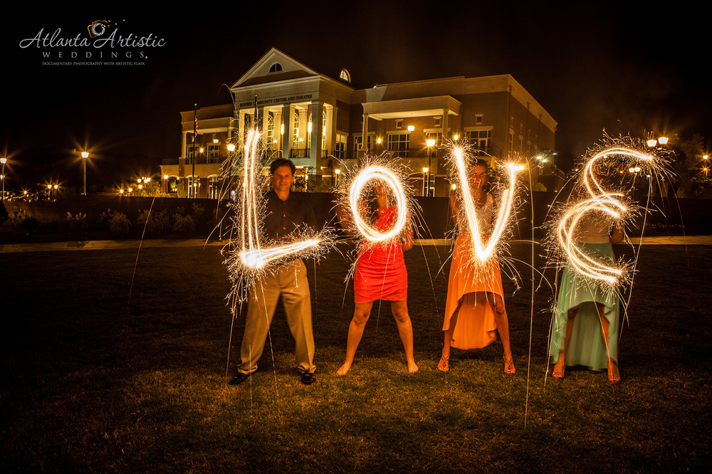 Night Photography by Atlanta Wedding Photographers at  www.atlantaartisticweddings.com