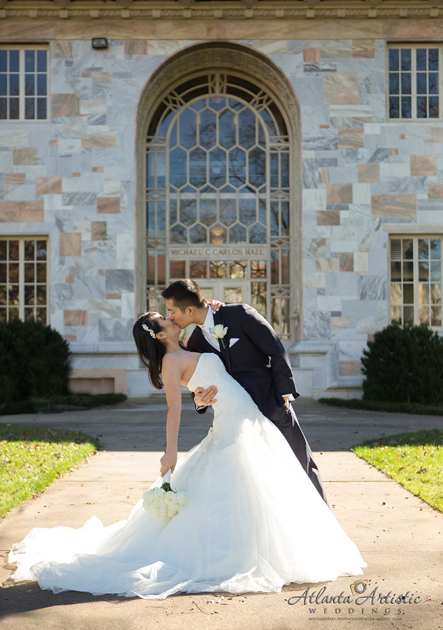 Atlanta Wedding photographers at Emory University