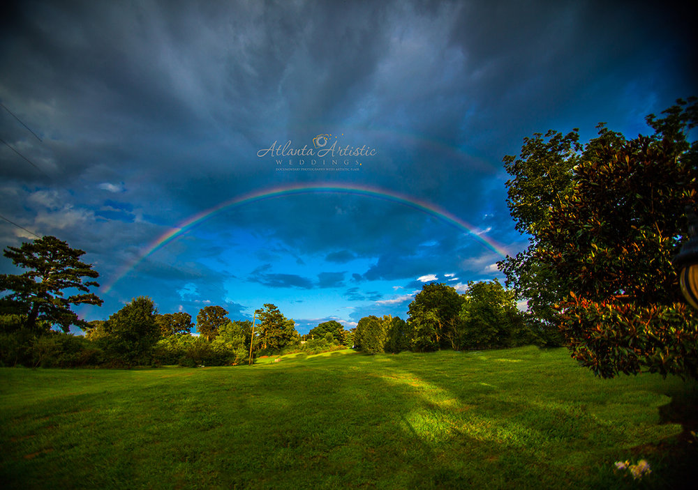 Beautiful Rainbow at Atlanta Wedding