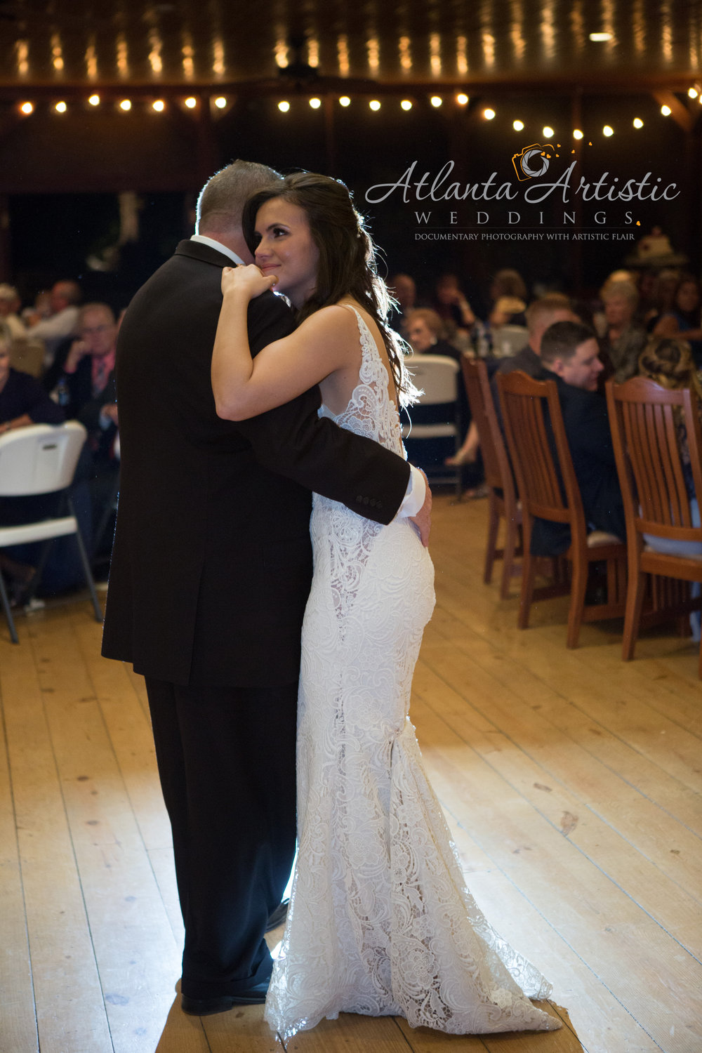Father and Daughter Dance by the Atlanta Wedding Photographers at AtlantaArtisticWeddings