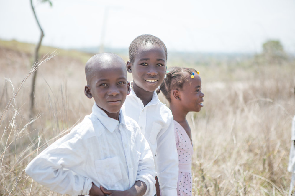 Children from Eco Village in Haiti