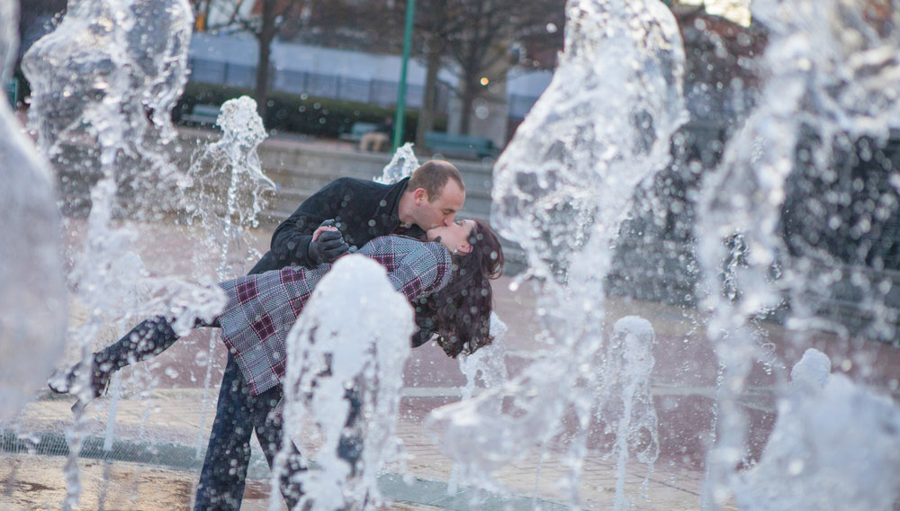 Engagement Photography at Centennial Olympic Park Atlanta