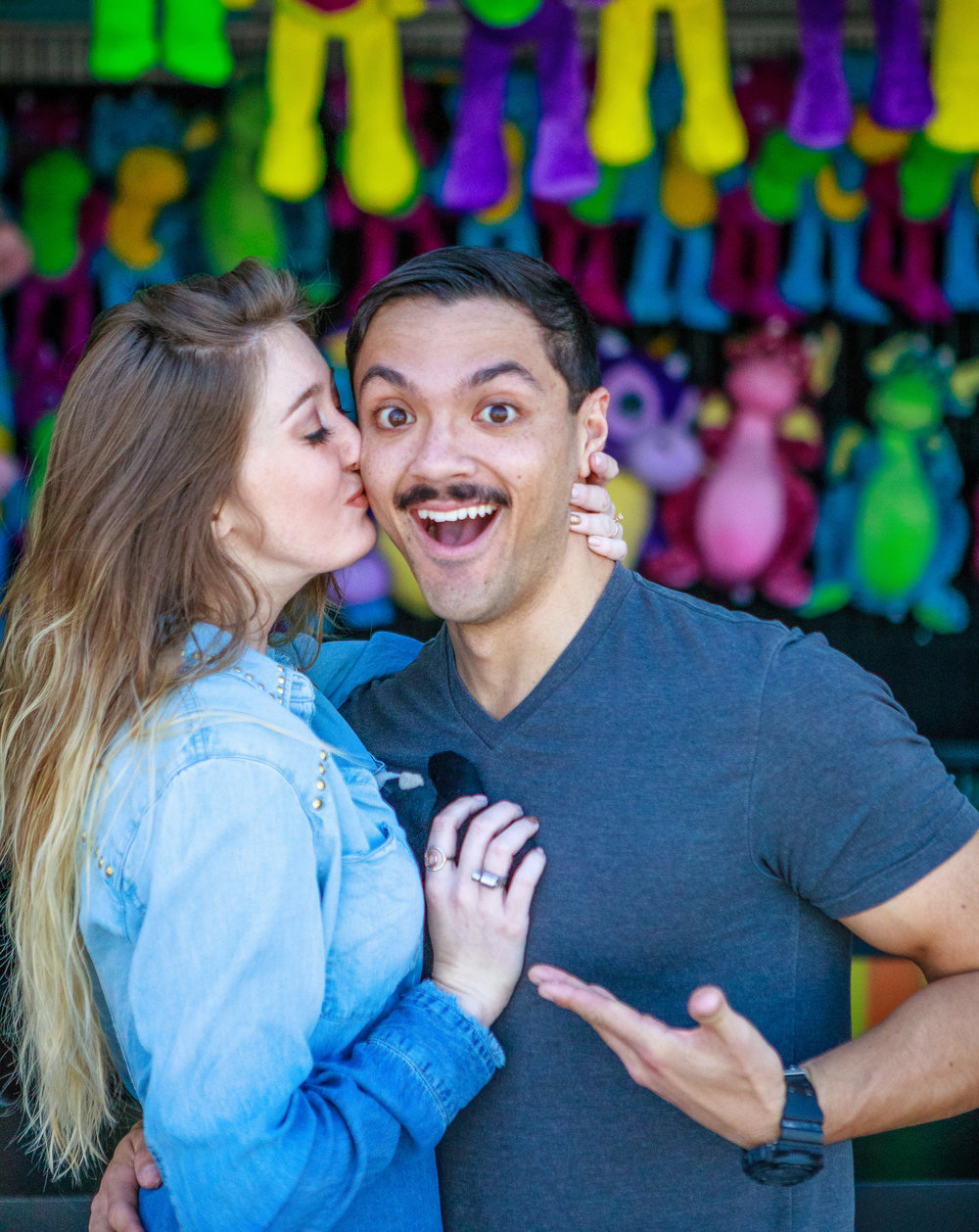 Engagement photos on top of  Ponce City Market