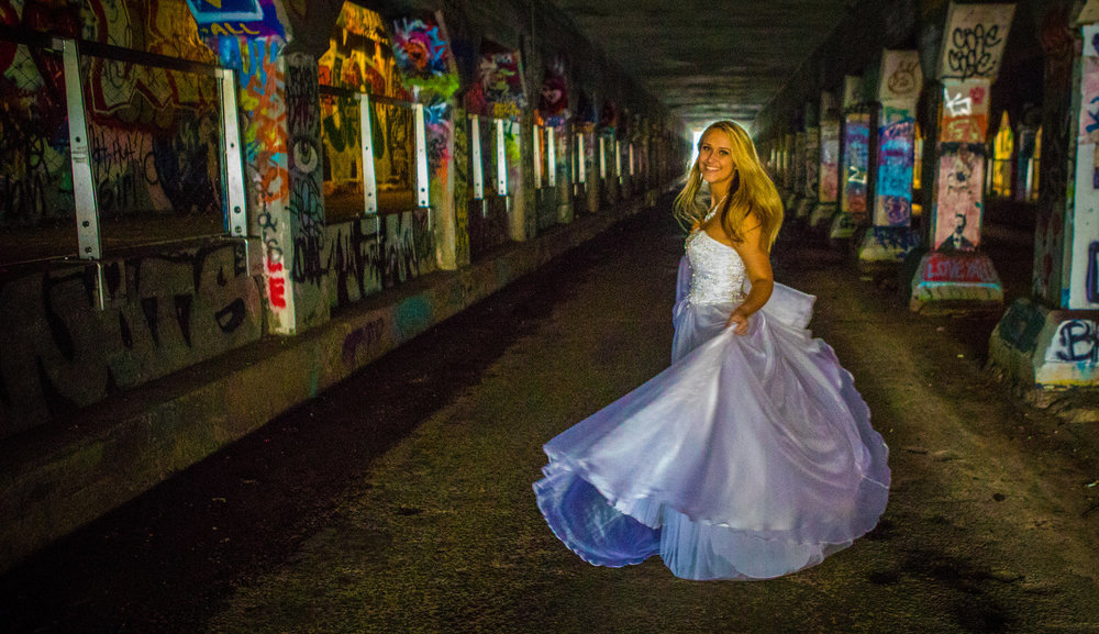 Krog Street Tunnel Photo by the Atlanta Wedding Photographers at AtlantaArtisticWeddings