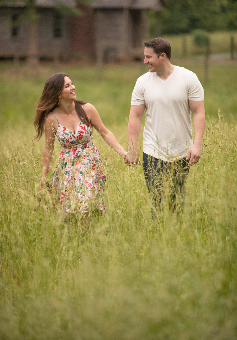 Engagement Photo by the Atlanta Wedding Photographers at www.AtlantaArtisticWeddings.com