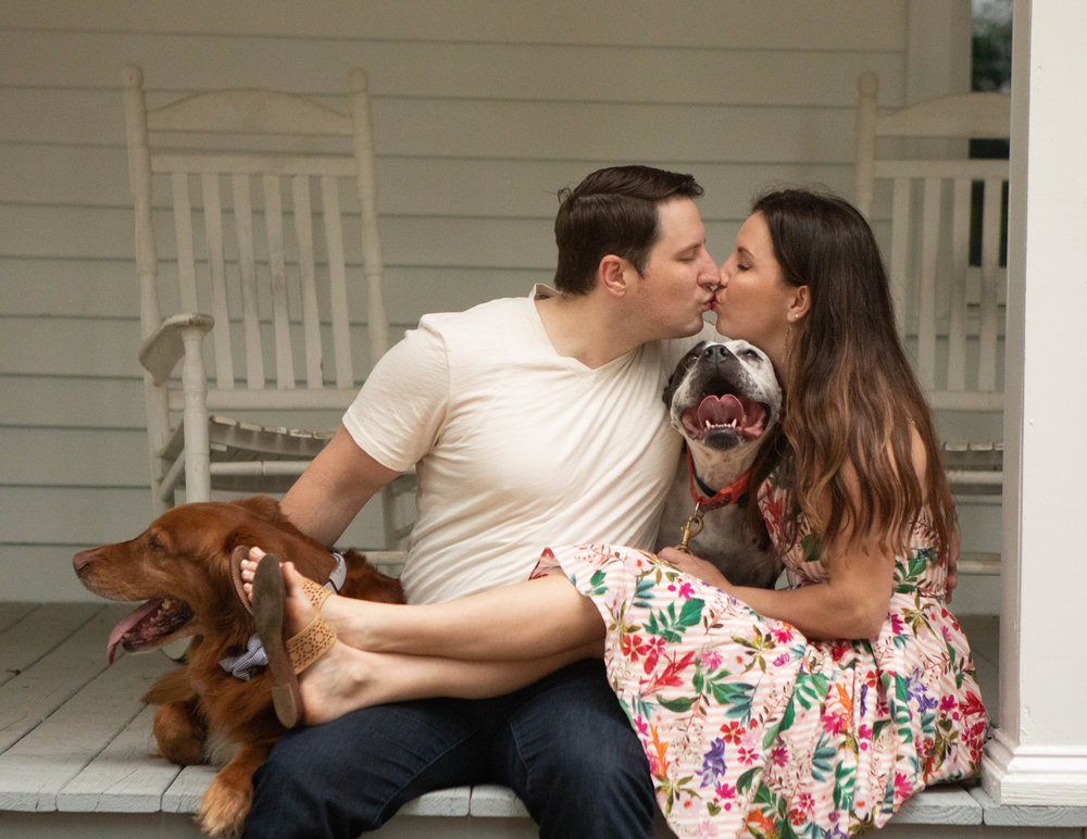 atlanta wedding photographers - atlantaartisticweddings - engagement session with pets.jpg