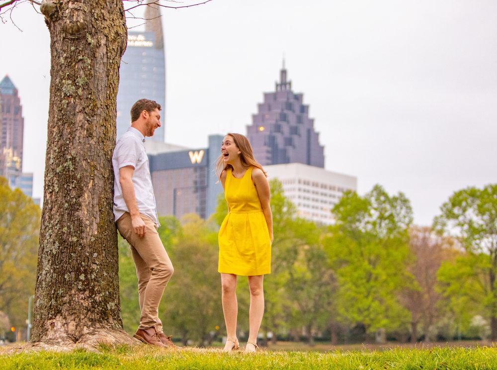 Engagement session by the Atlanta Wedding Photographers at AtlantaArtisticWeddings