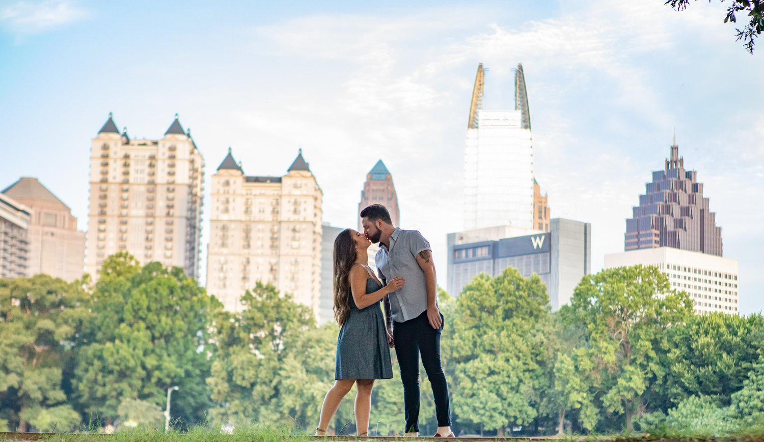 Engagement photos by the Atlanta wedding photographers at AtlatnaArtisticWeddings