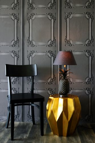 Wallpaper from Rockett St George Classical Louis XV Panelling Wallpaper Grey - Koziel