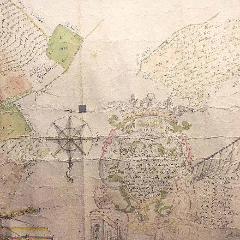 Best Piemonte Wine Tour - Old Vineyard Map