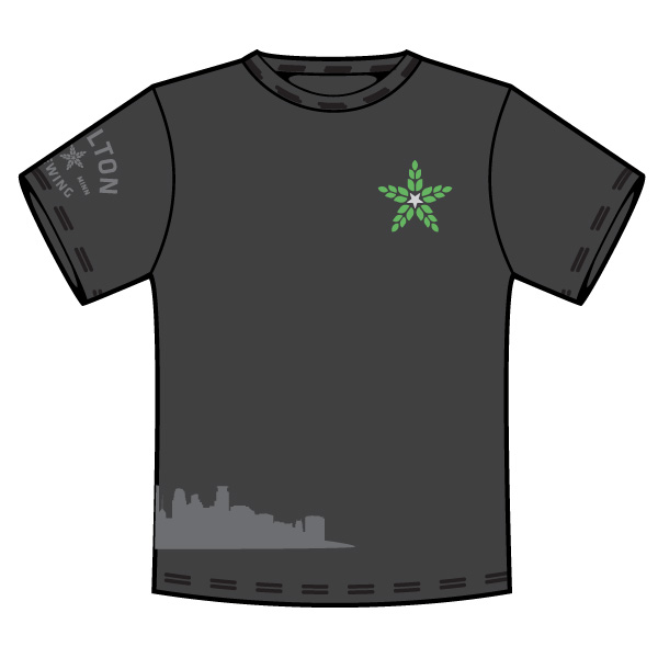 ( E ) Skyline T - Black            Small - XXXL