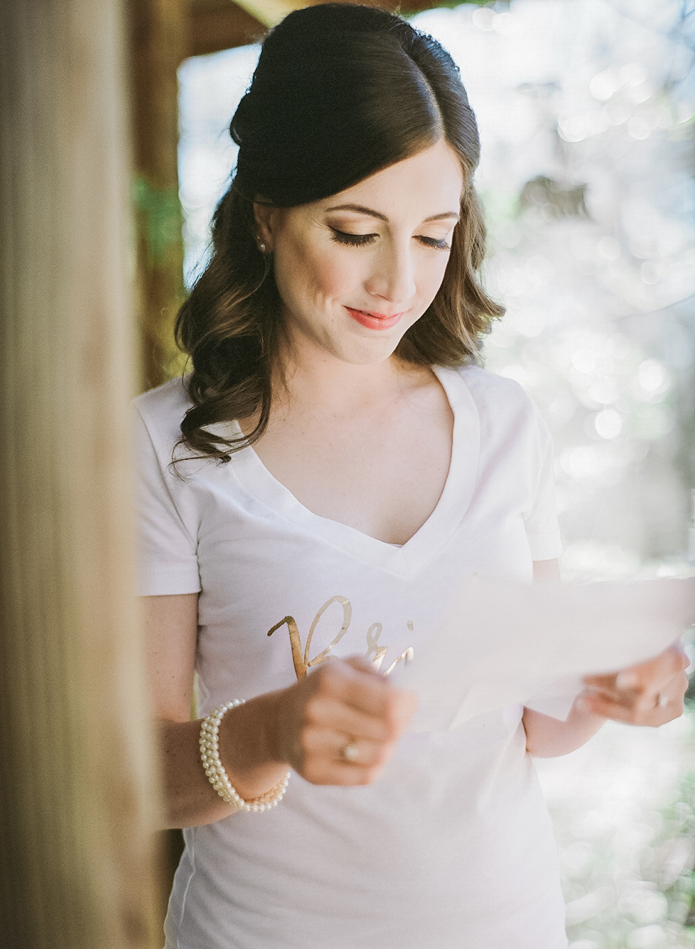 Matt wrote a letter to Sarah right before the wedding, It was a beautiful moment !